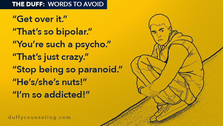 Phrases to avoid when discussing mental health issues